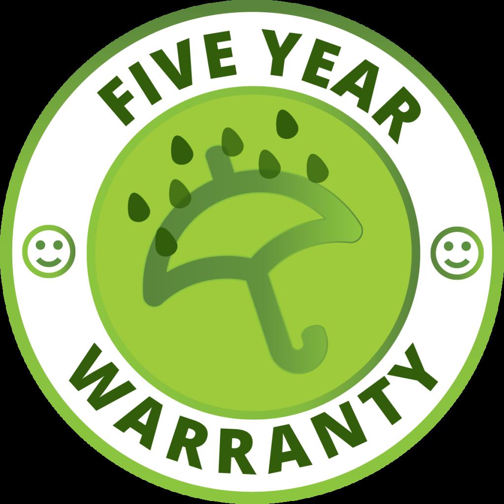 Ashwood Blinds 5 year warranty symbol
