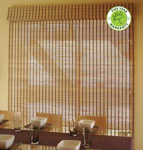 Photo of Brown Combi Bamboo Blind