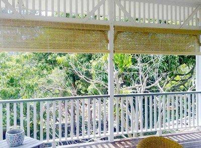 Raw Bamboo 'Natural' Blinds for a Queensland Verandah
