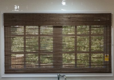 Raw Bamboo Blinds for Kitchen Windows