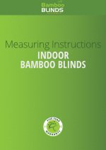Indoor Bamboo Blinds measuring guide cover