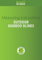 Outdoor Bamboo Blinds measuring guide cover