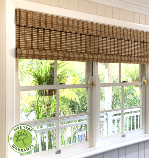 Bamboo roll-up blinds in Brown Combi 'natural'