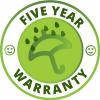 5 Year Warranty Symbol