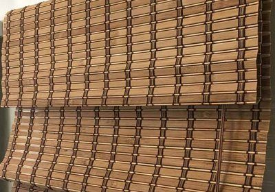 Brown Combi Natural Lacquered Blinds